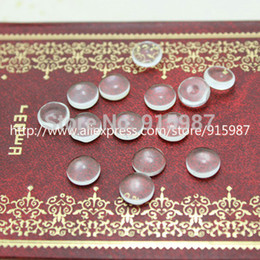 $enCountryForm.capitalKeyWord Australia - Sweet Bell 200pcs lot Wholesale clear cameo glass cabochons tray pendant cover 10mm Cabochon Pendant 9B1439