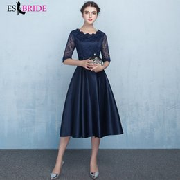 $enCountryForm.capitalKeyWord Australia - Blue Simple Plus Size Short Evening Dresses New Tulle A-line Vestidos de fiesta de noche Elegant Wedding Guest Gowns ES1283