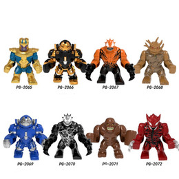 Big Building Blocks children online shopping - Building Blocks Super Heroes Big Size Thanos Hulkbuster Venom Groot Aleskse Riot Clayface Figures For Children Model Toys PG8242