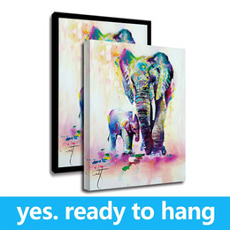 Giclee Print Canvas Paintings Australia - Canvas Print Painting Wall Pictures Wall Art Elephant Canvas Art Decor Oil Painting Giclee Art - Ready To Hang - Framed