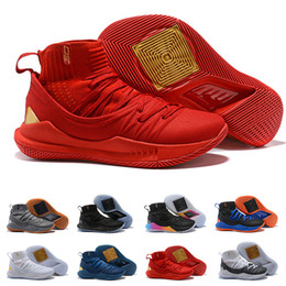 391843a699b95 Golden Red State Stephen Curry 5 5s Mens Basketball Shoes High Top Mens  Designer Under V Armour Trainers Human Sneakers UA Tennis Shoes