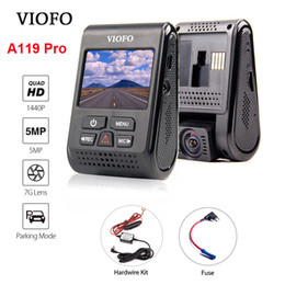 fusing kit Australia - VIOFO A119 Pro Capacitor 2K 1440P Novatek 96660 AR0521 HD Car Dash Cam Video Recorder DVR +Hardwire Kit + Fuse Optional GPS