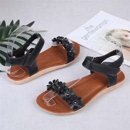 $enCountryForm.capitalKeyWord Australia - COOTELILI Women Shoes Fashion Bohemian Flower Sandals Summer Flat Set Toe Sandals Ladies Shoes White Red Black Sandalia Feminina