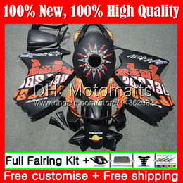 black repsol fairings Australia - Body For HONDA Interceptor VFR800RR 02 08 09 10 11 12 69MT22 Matte Repsol VFR800 RR VFR 800 RR 2008 2009 2010 2011 2012 Fairing Bodywork