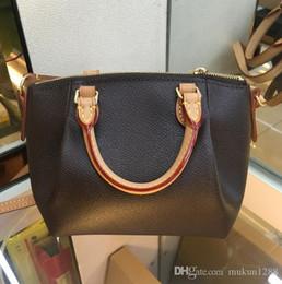 $enCountryForm.capitalKeyWord NZ - 2019 top quality Free hot stamping Brand Genuine Leather TURENNE Tote Bag Women Fashion Shoulder Bag Handbags with strap crossbody 48813