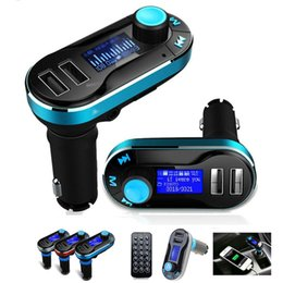 Smart tranSmitter online shopping - Dual USB Charger Car FM BT66 Transmitter Bluetooth Hands free LCD MP3 Player Radio Adapter Kit Charger Smart Mobile phone
