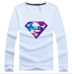 superman pullover men Australia - 2019 New Best-selling Spring and Autumn Men's Long-sleeved Round-necked Cotton Bottom Shirt Large Size Speed Sales-Star Superman Factory Di