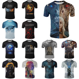 wholesales game thrones Australia - game of thrones 3D Printed t-shirts 25 designs Big Kids Teenagers Mens t shirt family matching outfits SS295-1