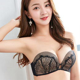 2754b242bbc02 Detachable Strap Fabala Non-Slip Lace Women Bra Underwear Adjustable No  Steel Ring Soft