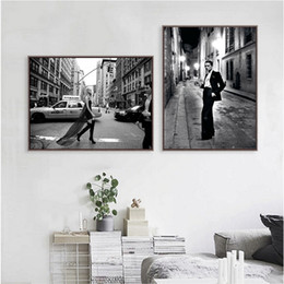 paris canvas decor Canada - Fashion Beauty Print Le Smoking Photo Poster Vogue Paris Art Canvas Painting Woman Cover Magazine Picture Bedroom Wall Art Decor