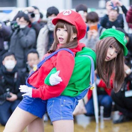 Luigi hats online shopping - 2019 Hot NS Game Super Mario Odyssey Cosplay Hat Halloween Adult Child Anime Super Mario cotton Hat Cap Luigi Bros Cosplay Cap C13