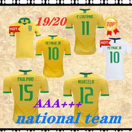 8a76f6957 2019 brazil soccer jersey football shirt 19 20 camisa de futebol copa  america brasil camiseta de fútbol COUTINHO FIRMINO JESUS MARCELO