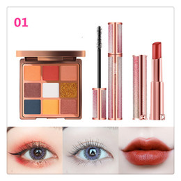 $enCountryForm.capitalKeyWord Australia - High-end Starry Sky Series Eyes Makeup Set Glitter Eyeshadow Palette Velvet Nude Matte Lipstick Mascara 4d Gifts Set