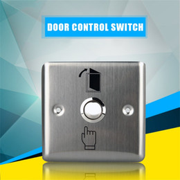 push exit Australia - newHot sale Convenient Stainless Steel Switch Panel Door Exit Push Home Release Button Access Control K14 Gate Opener Access