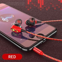 $enCountryForm.capitalKeyWord Australia - Dual Speaker In-ear Earphone Dual Moving Coil Earphone Cable Controller With MIC Game Earphones Headsets For iPhone Android Smart Phones