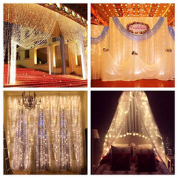 solar icicle lights Australia - 3Mx3M Window Curtain Icicle LED String Light Strip Fairy Lights Holiday Christmas Wedding Party Xmas Outdoor Decoration
