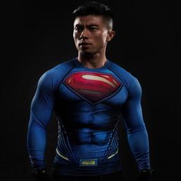$enCountryForm.capitalKeyWord Australia - Compression Shirt Batman VS Superman 3D Printed T-shirts Men Raglan Long Sleeve Cosplay Costume Fit Clothing Fitness Tops Male