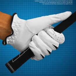 accessories leather gloves Australia - PGM New Leather Sheepskin Men Gloves Pair Left & Right Hand Golf Sport Gloves Soft Breathable Gants De Gloves Accessories White