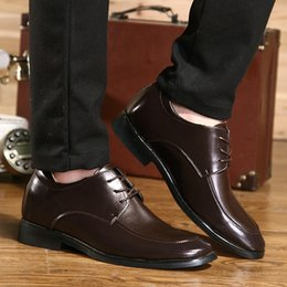 $enCountryForm.capitalKeyWord NZ - Hot Sale-2019 Winter Height Increasing Men Shoes Warm Short Plush Genuine Leather Mens Formal Shoes Men Lace Up Pointed Toe Dress Shoes Men