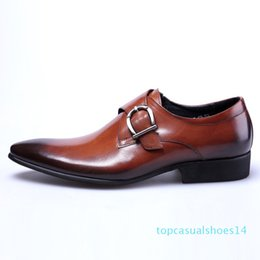 strap black NZ - monk strap men office shoes men business leather men shoes for wedding black large size 48 zapatos de vestir chaussure mariage homme t14
