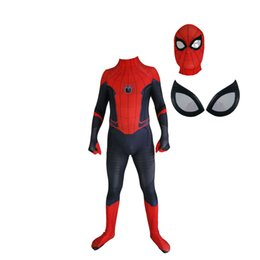 zentai female 2019 - Adult Men Kids Spider man away from home Peter Parker Cosplay Costume Lycar High Quality Spiderman Superhero Zentai Part