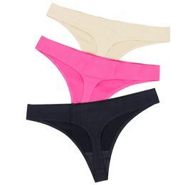 $enCountryForm.capitalKeyWord NZ - Hot Silk Thongs String Seamless Female Underwear Sexy Tanga Panties Women Low-rise Lingerie Panty Intimates C19041502