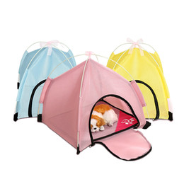 small dog house kennels Australia - Foldable Pet Tent Portable Dog Tent Cat House Outdoor Travel Kennel Cats Dogs Camping Fence Dog Carrier G7 Pet Supplies