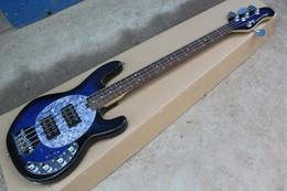 $enCountryForm.capitalKeyWord UK - Free Shipping Guitar High Quality Music Man SABRE Active Pickup Ernie Ball Sting Ray Blue 4 String Bass Guitar