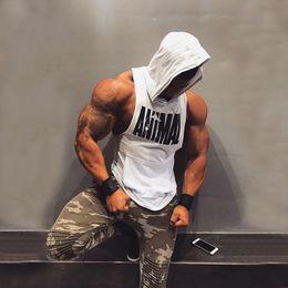 $enCountryForm.capitalKeyWord Australia - 2019 New Men Cotton Tank top Undershirt Gyms Fitness Hooded Vest Sleeveless Sport Tank Top Crossfit Workout Running Vest men