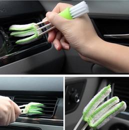Toptan satış Güzel Çok Fonksiyonlu Araba Temizleme Fırçası Araçları Mikrofiber Duster Oto Klavye Toz Toplayıcı Bilgisayar Temiz Pencere Panjur Temizleyici