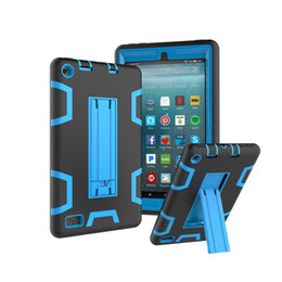 3 в 1 гибридный силиконовый чехол для всего тела защитный чехол для Amazon Kindle Fire 7 2017 7 дюймов 2015 Kindle Fire HD 8