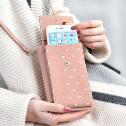 White Orange Pink Wallets Australia - New 2019 Brand Women Casual Wallet For Iphone 7 6 X Messenger Shoulder Straps Bag Big Card Holders Wallet Handbag Purse Clutch