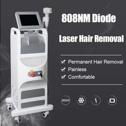 epilation laser Canada - Newest 808nm Diode Laser machine 808nm permanent hair removal Beauty Equipment painless Epilation infrared laser diode 808