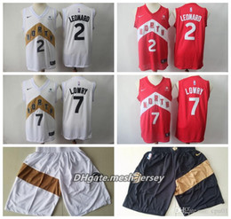 59f41e093 Men 2019 Raptors Toronto Basketball Short 7 Lowry Jersey 2 Leonard 10  DeRozan Breathe Breathable Stitched Shorts S-XXL