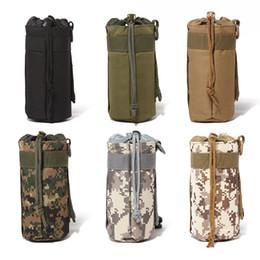 water bottle belt holder 2019 - Portable Tactical Water Bottle Outdoor Hiking Belt Holder Kettle Pouch Bag Sport Bottle Bag discount water bottle belt h