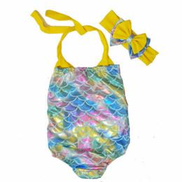 $enCountryForm.capitalKeyWord UK - Girls Swimwear Bathing Suit Beach 2018 Summer Brand Baby Girls Infant Swimsuit Cartoon Mermaid Costume Toddler Swimwear 2-7y J190705