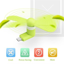 micro fans UK - Mini Micro USB Fan Cool Mobile Phone USB Fan Portable Cooler Cooling Fan Cell phone For type-c micro USB iPhone x