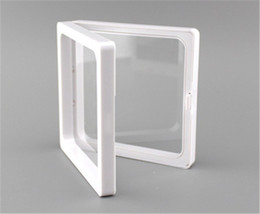 Coating Jewelry NZ - 7x7x2cm,clear plastic membranes photo frame display  collection box jewelry box with two holding clear membranes-ourself mold