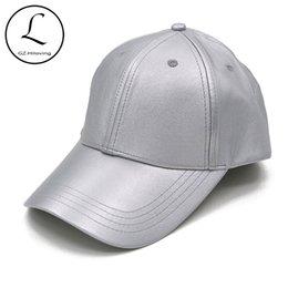 $enCountryForm.capitalKeyWord Australia - GZHILOVINGL Women's Baseball Cap Spring Leather Snapback Hat Unisex Sun Silver Black Color Caps Gorra Adult Hats 70114