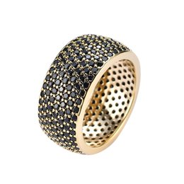$enCountryForm.capitalKeyWord Australia - Copper mirco pave Black CZ stone Hip Hop Ring All Iced Out CZ Stone Rings K3723