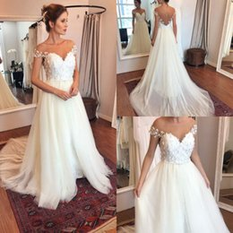 New Arrival Cheap Wedding Dresses with Sleeves Elegant Lace Appliqued Tulle A Line Bridal Gowns In Stock Plus Size Hochzeitskleider on Sale