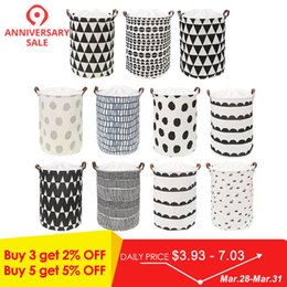 $enCountryForm.capitalKeyWord Australia - Protable Laundry Storage Basket Bag Clothes Organizer Laundry Bucket Bag Toys Storage Organizer Holder Pouch
