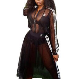 See through Shirt Skirt online shopping - women designer shirt dress gauze see through long sleeve T shirt skirt loose piece dress fashion high quality skirt women clothing klw2237