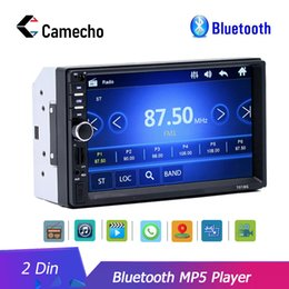 """bluetooth car cameras 2019 - Camecho Car Radio HD 7"""" Touch Screen Stereo 2 Din Bluetooth FM ISO Power SD USB Aux Input Mp5 Player No or With Cam"""