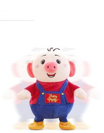$enCountryForm.capitalKeyWord Australia - Happy Piggy Plush Doll Twisting Amuse Pig Walking Around 80 Songs Music Learn Speak Face Light Cute Braces Pants 3 Root Hair Electric Toys