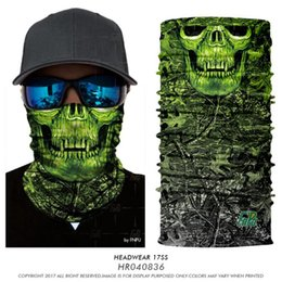 skull half face mask bandana NZ - 3D Seamless Skull Scarf Balaclava Face Mask Headband Neck Warmer Bandana Shield Sport Motorcycle Camping Headwear Bandana for Men Bicycle