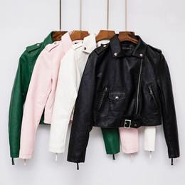 $enCountryForm.capitalKeyWord Canada - fashion green white black pink women leather jacket jaqueta couro bomber motorcycle leather jackets women brand leather coat