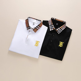 Wholesale lapel pattern shirt for sale – plus size 2020 Luxury European Paris Fashion Men Luxury Brand Polo Fashion Men Logo Design Shirt Casual Men Clothes Medusa Cotton T Shirt Luxury polo