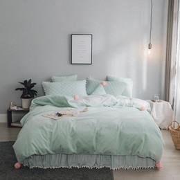 Queen Size Princess Bedding Australia - Fleece Warm White gray pink Princess Bedding set 4 6pcs Twin Queen King Size Kids Bed set Duvet Cover Bedspread parure de lit