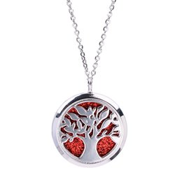 $enCountryForm.capitalKeyWord Australia - Magnetic Hollow Floating Tree of Life Locket Pendant Jewelry Aroma Perfume Fragrance Essential Oil Diffuser Locket Necklace
